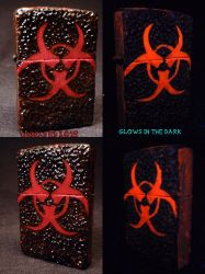 BioHazard Zippo by Undead Ed Glows in the Dark 2 by Undead-Art