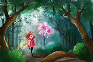 magic forest by KimTi