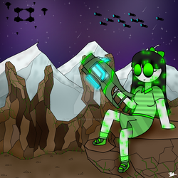 Listening Ambient Space Music Made Me Drew This by JamesMaster0101