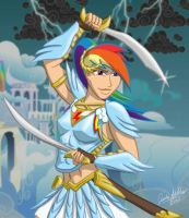 MLP: Human Rogue Rainbow Dash by Saber-Scorpion