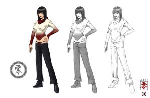 Ling - casual wear sketches by J-Sty1e
