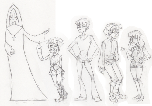 Character Line Up Ptrr Wip by StygianRecluse