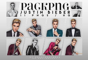 PACK PNG 004 | JUSTIN BIEBER by DearTeddybear