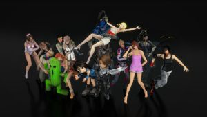 XNA Characters Render Test by marblegallery7