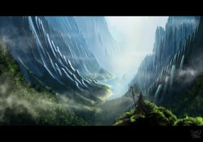 The blue mountains by ChrispyDee
