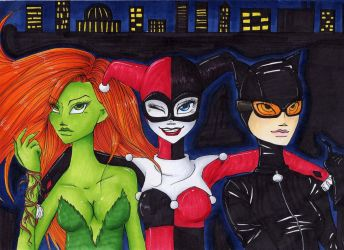 Gotham City Sirens by Pepper-Jam
