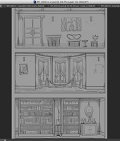Behind the Scenes background plates by TiredOrangeCat