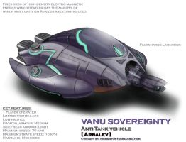 Vanu Sovereignty Arbalev AT vehicle by hansime