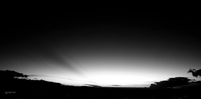 Sunset over Bogota BW by Peregrijn