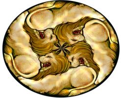 Lion Circular Tessellation 2 by sethness