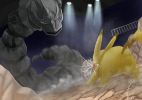 Ash VS Brock by ViniciusFialho