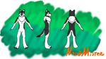 Fursona Reference Sheet (No Clothes) by Noobmister