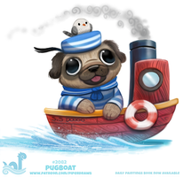 Daily Paint #2082. Pugboat by Cryptid-Creations