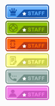 Colorful staff ranks by IconSkoulikiGraphics