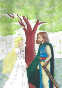 Prize - Faramir and Eowyn by weaselmisao