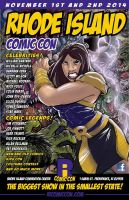 2014 RHODE ISLAND COMIC CON poster lettered by IanNichols