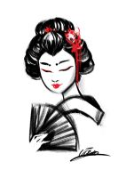 Geisha Ink by VPdessin