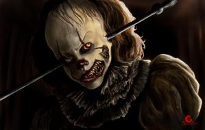 IT, Damege Pennywise + SpeedPaint by ArtAG95