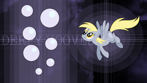 Derpy bubbly space wallpaper by rhubarb-leaf