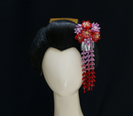 Red and Lilac Bouquet with Bira and Shidare 324 by japanesesilkflowers