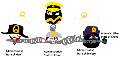Dalawoball with his Four Administration States by XarTario
