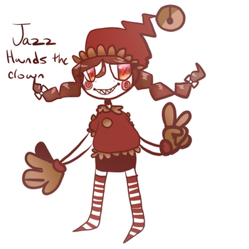 Jazz hands the clown by cutiecrab