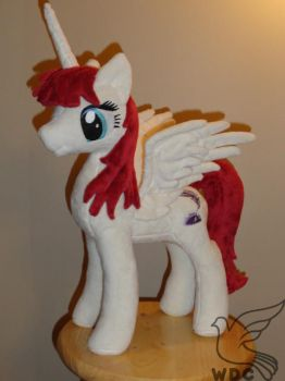 Faust Alicorn OC plush by WhiteDove-Creations