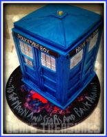 Dr Who Tardis Cake by gertygetsgangster