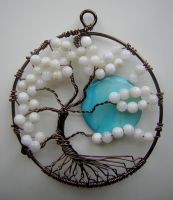 Twisted White Tree of Life with Moon *SOLD* by RachaelsWireGarden