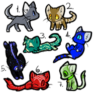 Cat Adopts - Price Lowered (Closed) by Sia-Adopts