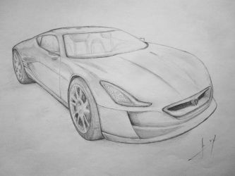 Rimac Concept One by dreamh