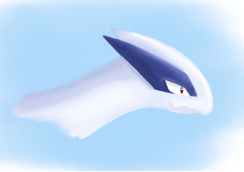Lugia's Head by TheSkyTempleOfficial
