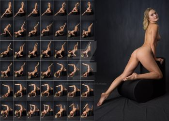 Stock: Nadia Nude Stool Poses - 42 Images by stockphotosource