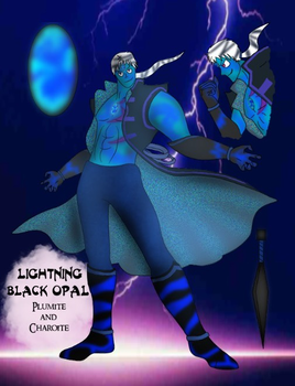 Gemtalia AU Collab - Lightning Black Opal by FroggieGirl1994