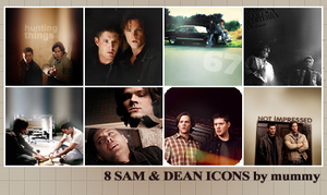 8 Sam and Dean icons :2: by mummy16