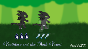 Toothless and the Berk Forest (PNG) by Joy144SK