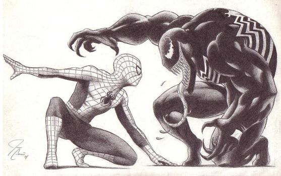 Spiderman vs Venom by DigitalMenace