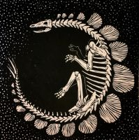 Stegosaurus Skeleton by kaleidoscopickle
