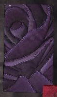 GCSE quilted rose, in purple by KidnapTheSandyClaws