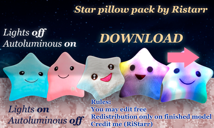 Star Pillow Pack By Ristarr DOWNLOAD by RiStarr