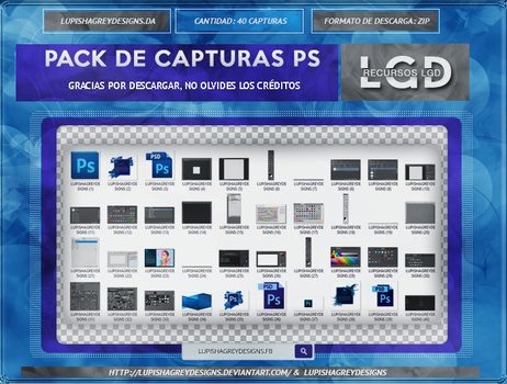 PACK CAPTURES DE PHOTOSHOP by LupishaGreyDesigns