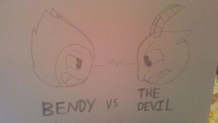 Bendy vs The Devil (Sketch) by ShadAmyfangirl129