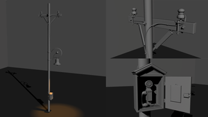 PowerPole and Telephone - Highpoly Practise by swatty007