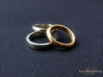 Metalwork: Three Wedding Rings by LinaIvelle