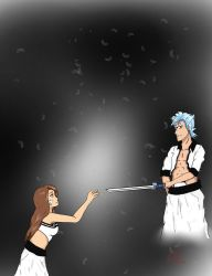 Sanmiitai and Grimmjow by Chibi-Sami-chan