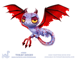 Daily Paint 1869# Tokay Hecko by Cryptid-Creations