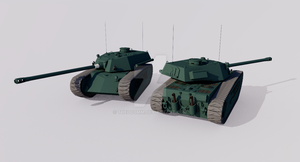 ACT-55 127 Heavy Tank by TheoComm