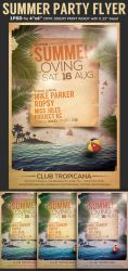 Summer Party Flyer Template by Hotpindesigns