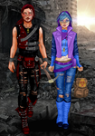Atom and Sassy Dragon - Lovers in the Apocalyptic by SassyDragon18
