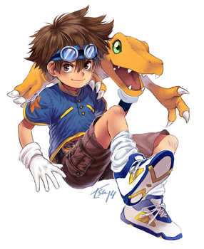 030814 Taichi and Agumon by ImaginedFlight